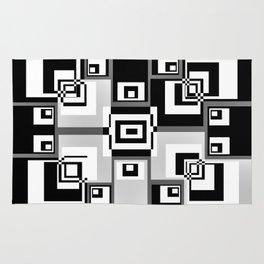 Interlock In Grey and Black Rug