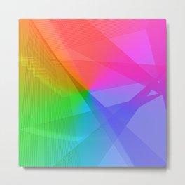 """ life colors"" Rainbow geometric Metal Print"