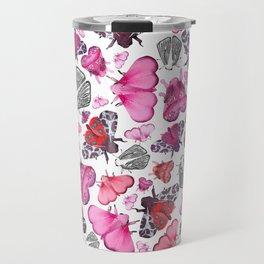 Pink Love of Moths and Butterflies Travel Mug
