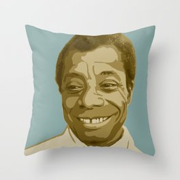 James Baldwin Throw Pillow