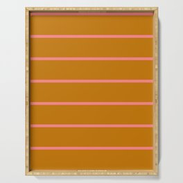 Abstraction_Summer_Color_Stripe_001 Serving Tray