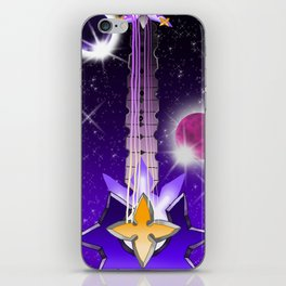 Fusion Keyblade Guitar #128 - Lunar Eclipse & Saix's Claymore iPhone Skin