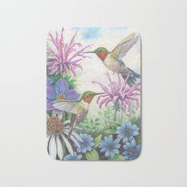 Hummingbird and Bergamot Bath Mat