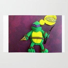purple mask Turtle Rug