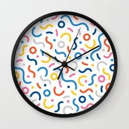 Memphis Inspired Pattern Wall Clock