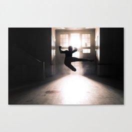 Jump contre jour Canvas Print