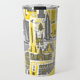 Manhattan New York Map Travel Mug