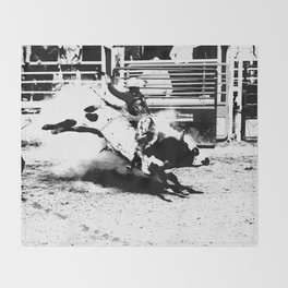 Bull Riding Champ Throw Blanket