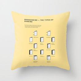 Bookbinding – The Types of Binding Throw Pillow