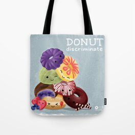 Donut Discriminate Tote Bag