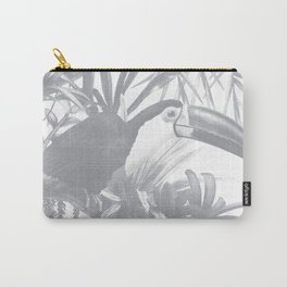 Toucans and Bromeliads - Sharkskin Grey Carry-All Pouch