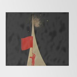 all the way up to the stars - soviet union propaganda Throw Blanket