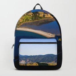 cable bay blue lagune panorama drone shot Backpack