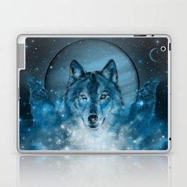 wolf in blue Laptop & iPad Skin