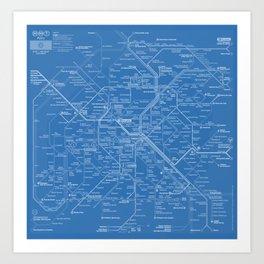 Paris Metro Art Prints Society - Paris metro map print