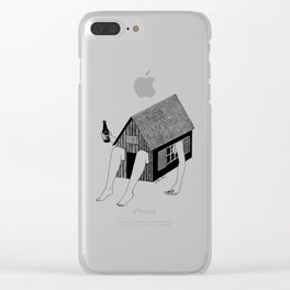 Sunday Chilling Clear iPhone Case