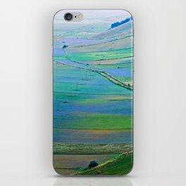Plain of Castelluccio seen from above iPhone Skin