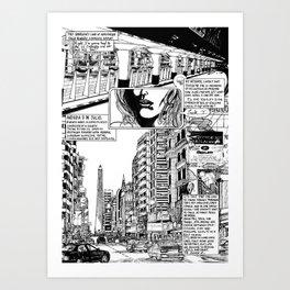 Buenos Aires Avenida 9 De Julio Art Print