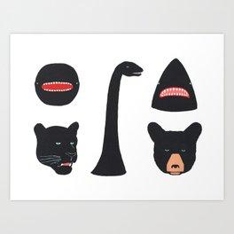 Mysterious Creatures Art Print