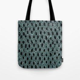 Watercolour Blackwork: 'Lozenge' Burnt Turquoise 1 (dark) Tote Bag