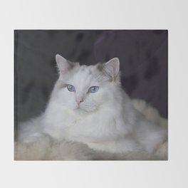 Ragdoll Cat Her Majesty Throw Blanket