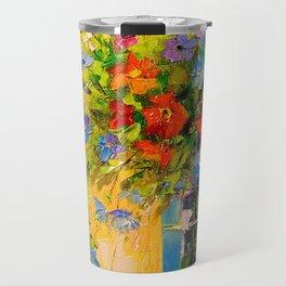 Bouquet of meadow flowers Travel Mug