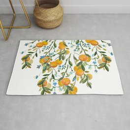 A Bit of Spring and Sushine Trailing Oranges Rug