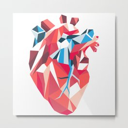 Poligon Heart Metal Print