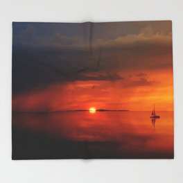 Amazing sunset adventure Throw Blanket