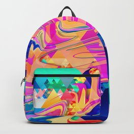 Colorful Pattern Waves Backpack