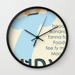 Judy Martin - Name Game w/Judy Lyrics Wall Clock