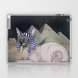 Sphynx Cat (space bg) Laptop & iPad Skin