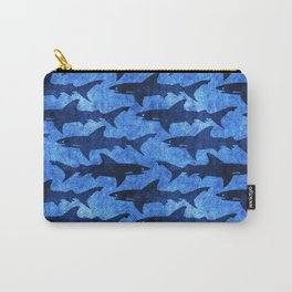 Sharks in the Blue, Blue Sea Carry-All Pouch