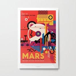 Retro Mars Vacation Ad from NASA Metal Print