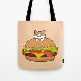 Neko Burger Tote Bag