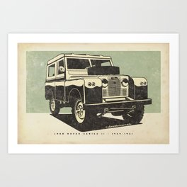 Land Rover Series II Art Print