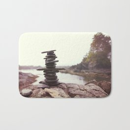 West Coast Inukshuk  #decor #society6 #buyart Bath Mat