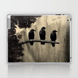 Three Like Minded Crows Laptop & iPad Skin