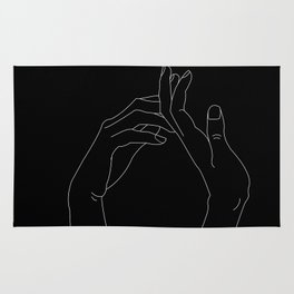 Hand in minimal line Rug