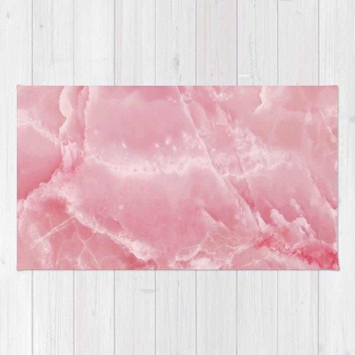Pink Onyx Marble Rug