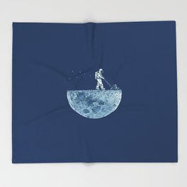 Space walk Throw Blanket