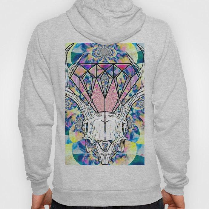 Geometric skull and diamond psychedelic print Hoody