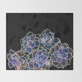 Succulents Throw Blanket