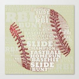 Baseballs and Slides Canvas Print