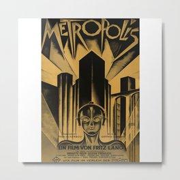 Metropolis, Fritz Lang, 19, vintage movie poster Metal Print