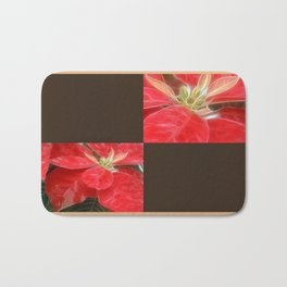Mottled Red Poinsettia 1 Ephemeral Blank Q3F0 Bath Mat