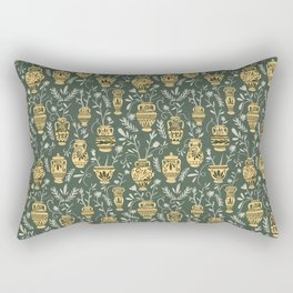 Greek vases with flowers Rectangular Pillow