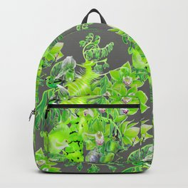 Chartreuse pattern Backpack