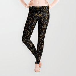 Fleur de Lis & Crown Pattern Leggings