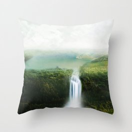 relaxing view Throw Pillow